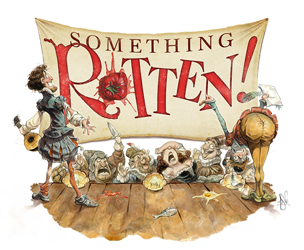 SOMETHING ROTTEN HALF KEY ART 4C